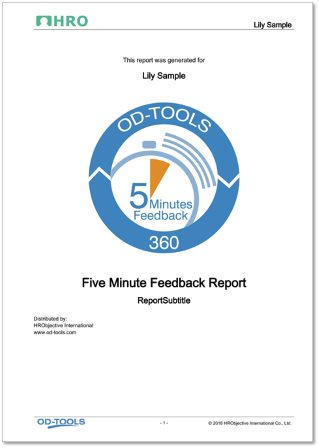 Five Minute Feedback Report