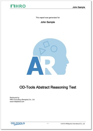 Abstract Reasoning Test Report
