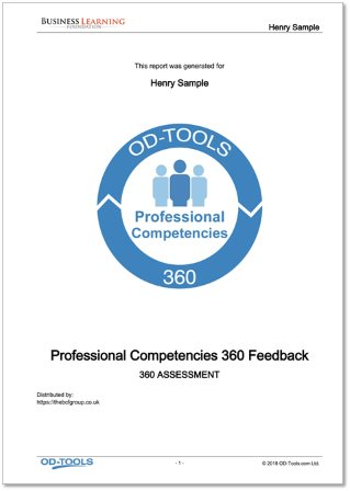 Professional Competencies 360 Feedback Report